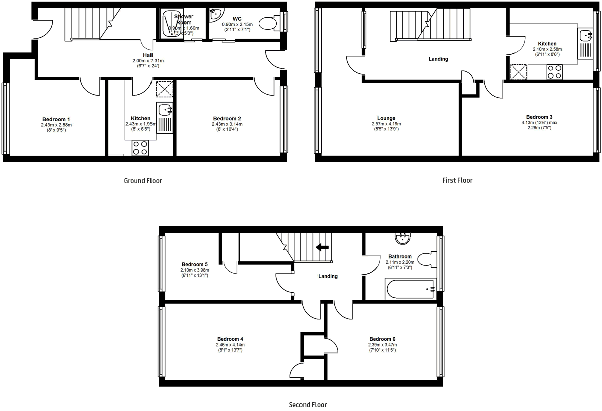 Floorplans - 20 Dollis Drive, Farnham accomodation