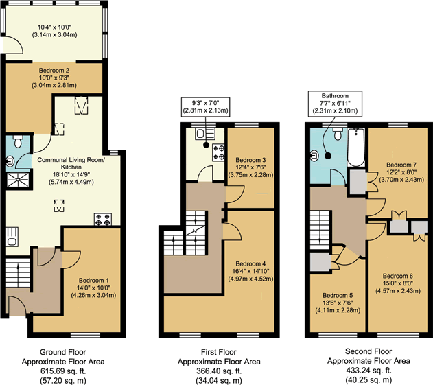Floorplans - 21 Dollis Drive, Farnham accomodation