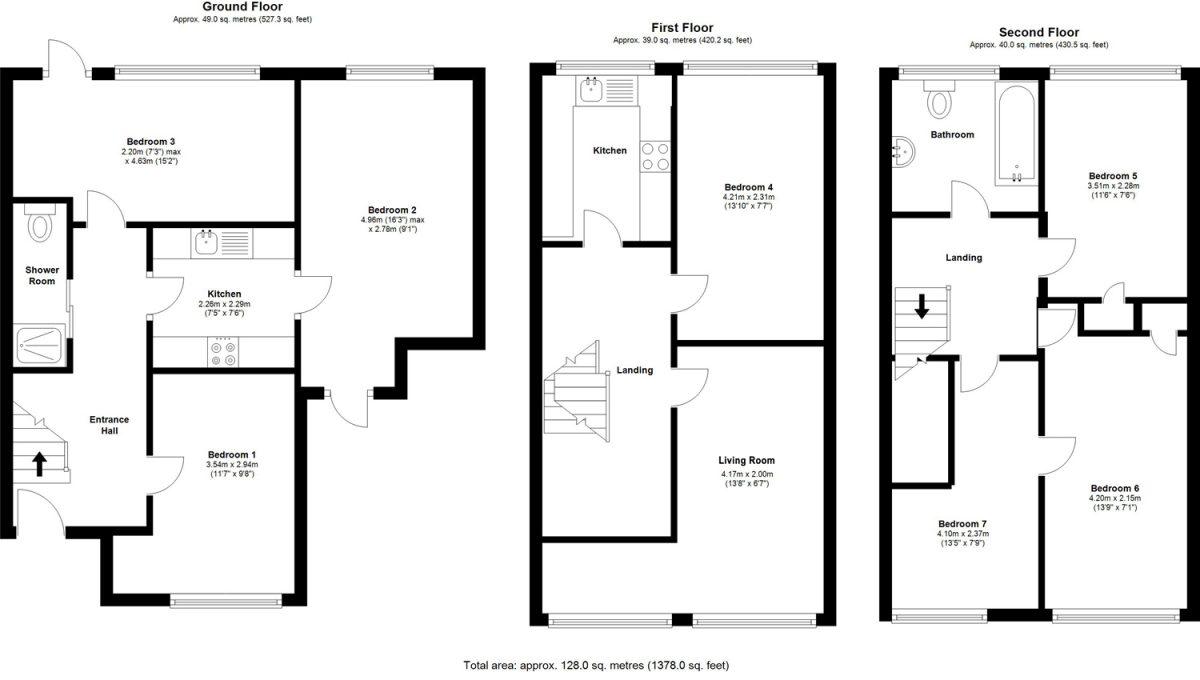 Floorplans - 22 Dollis Drive, Farnham accomodation