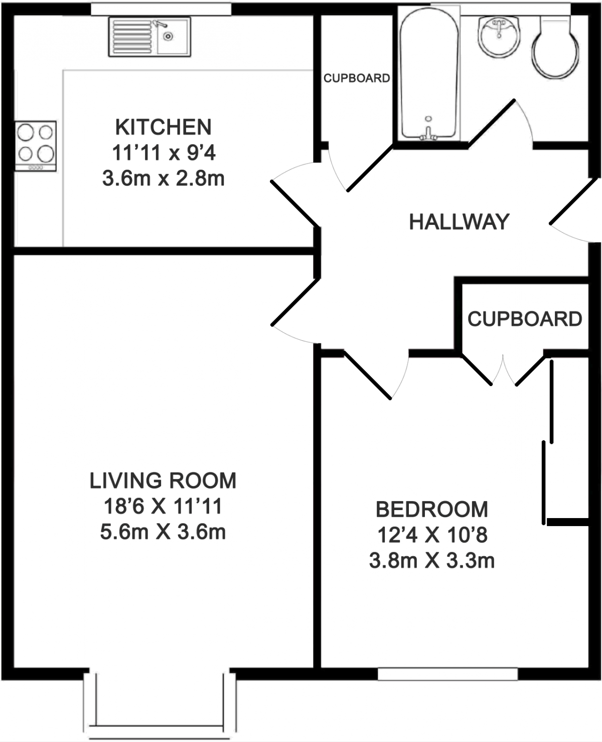 Floorplans - 11 Trimmers Field, Farnham accomodation