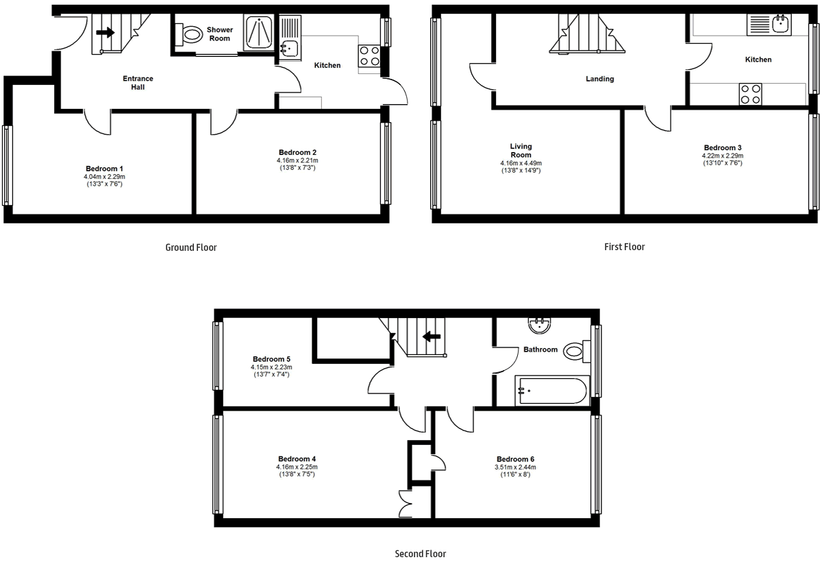 Floorplans - 17 Dollis Drive, Farnham accomodation