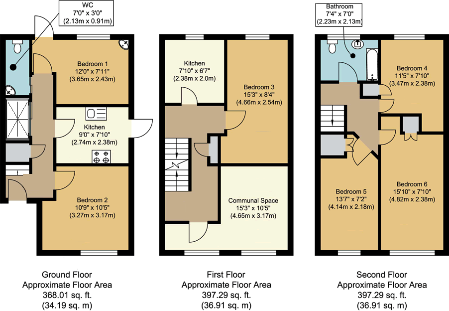 Floorplans - 18 Dollis Drive, Farnham accomodation