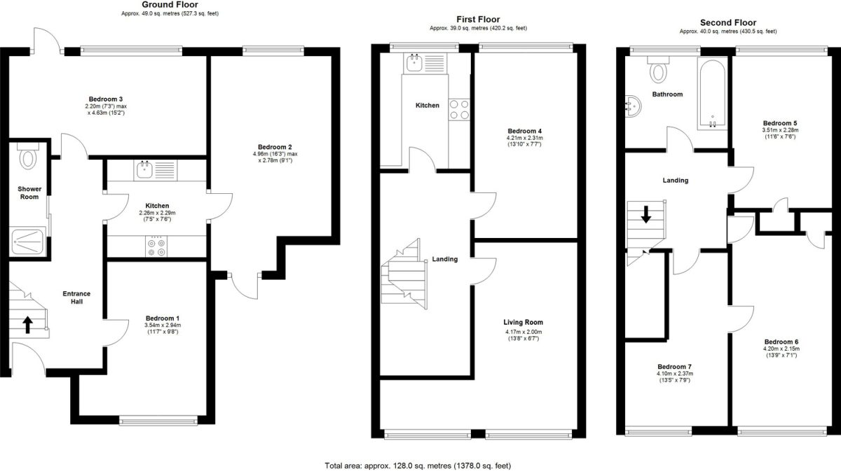 Floorplans - 22 Dollis Drive, Farnham accomodation