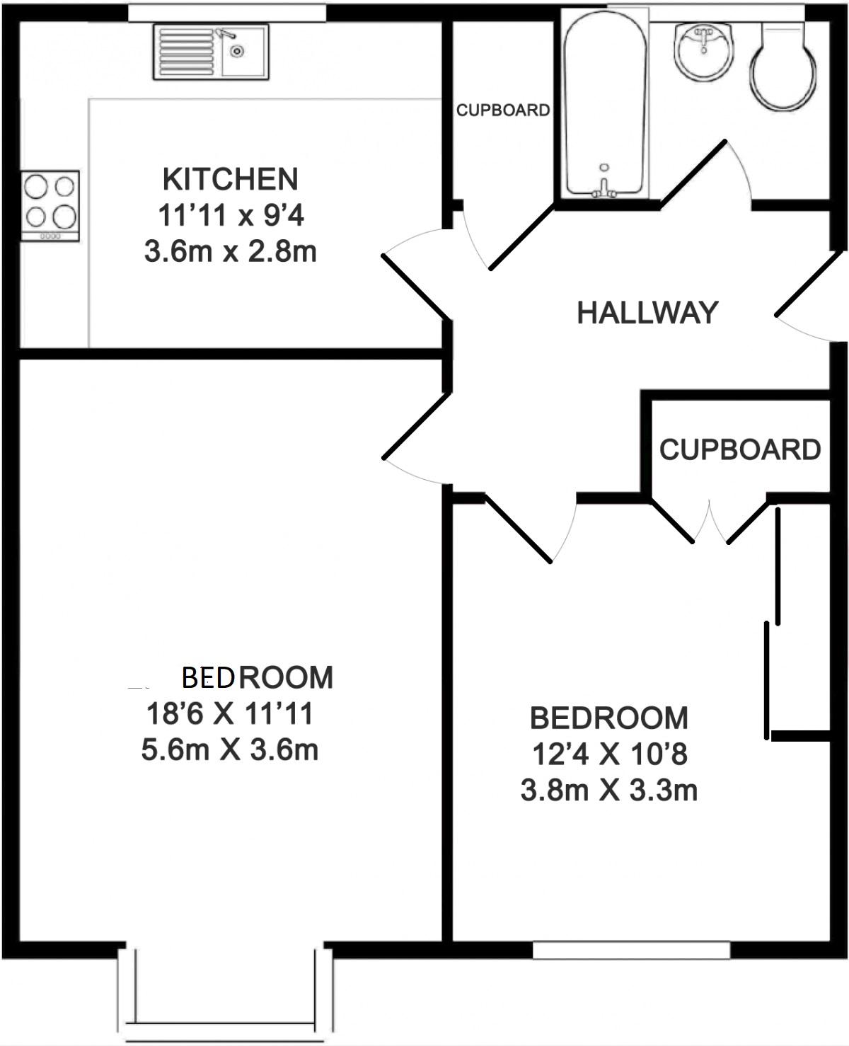 Floorplans - 11 Trimmers Field, Farnham accomodation